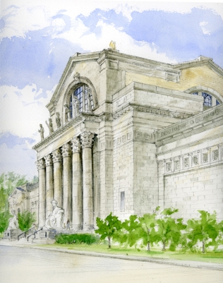 Art Museum Forest Park watercolor