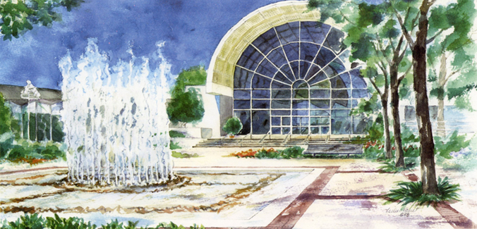 Missouri Botanical Garden St. Louis watercolor
