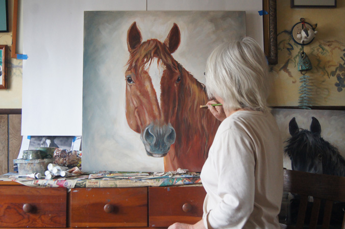 horse portrait painter St. Louis area